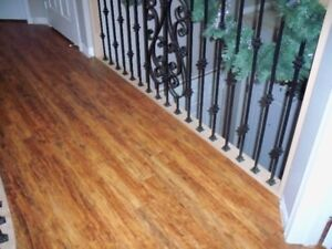 Laminate flooring gray and brown, 12.3mm,on sale+Stairs