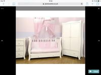 4 piece Pink & white VIB bedding set for baby's girls bedroom