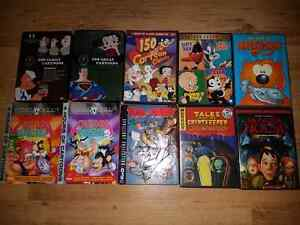 Lot of 10 Classic Cartoon Dvds (over 50 hours)