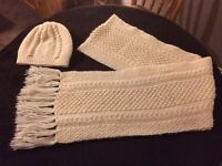 New hand knitted Scarf & Hat