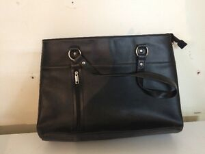 FAUX LEATHER BRIEFCASE/BAG
