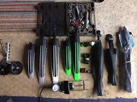 Bike bicycle spares parts job lot mudguard pump stabilisers tools