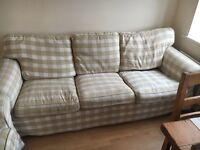x2 Three Seater Sofas - country cottage style