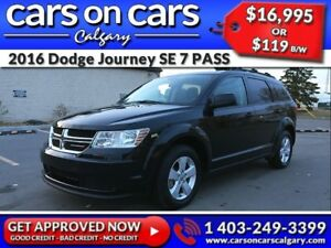2016 Dodge Journey SE 7 PASS w/BlueTooth, USB Connect, Satellite