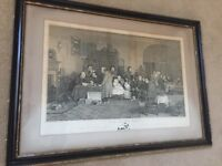 """Large Antique Engraving """"The Rent Day"""" by Sir David Wilkie"""