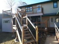 Deck, Railing, Fence