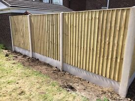 🌲Tanalised Wooden Straight Top Feather Edge Close Board Garden Fence Panels ~ High Quality