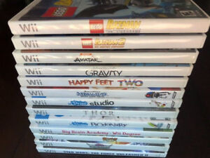 ABOUT 32 Wii GAMES LEFT! LEGO, 4 SKYLANDER GAMES ETC