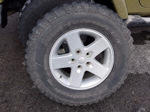 17 inch Rims with sensor and bf goodrich tires for jeep