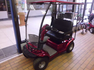 double seater scooter, golf cart