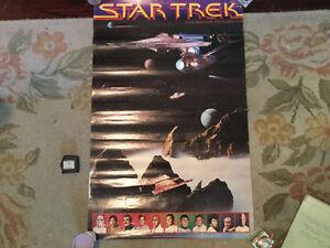 FURTHER REDUCED! Vintage 2-sided Star Trek poster for sale
