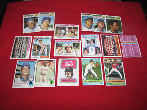 1500 different Topps 1980s baseball singles (a few from 1970s)