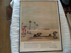 OLD BUICK  CLASSIC CAR FRAMED AD Windsor Region Ontario image 4