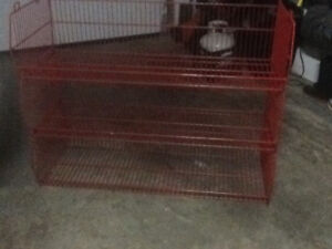Red Wire Shelving