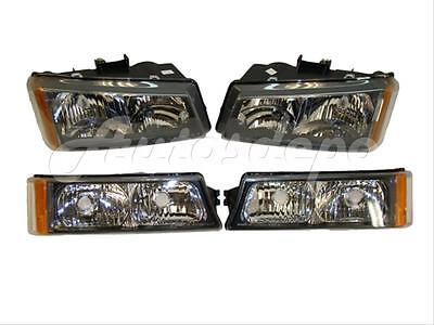 FOR 03 04 CHEVY SILVERADO 1500 HEADLIGHT SIGNAL LIGHT SET