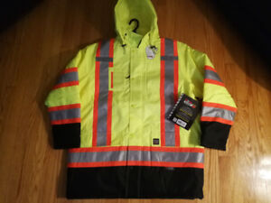 Work King Safety Jacket hooded Parka style Size XL BRAND NEW