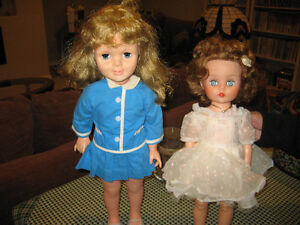 2 DOLLS FROM LATE 50's OR EARLY 60's