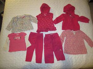 Baby Girl Clothing 7pc Ensemble - size 18 month