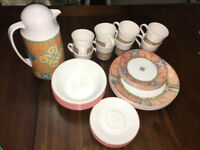 Corningware dinnerware and tea sets