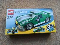 Lego Creator 3 in 1 Green Racing Car 6743