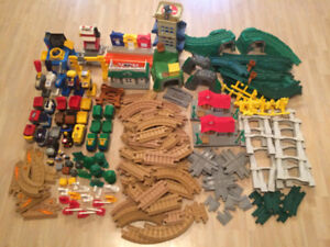 Fisher Price GeoTrax Train - Huge lot with trains, tracks, etc.