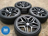 """BRANDE NEW 22"""" GENUINE RANGE ROVER STYLE 17 BLACK STEALTH EDTN ALLOY WHEELS & NEW CONTINENTAL TYRES"""