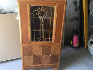 1940's  Art Deco China cabinet