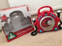 ELC Sing Along Red CD Player with 2 Microphones - like new