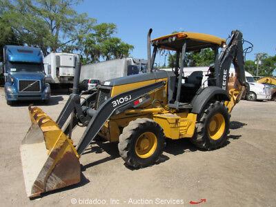 2012 John Deere 310sj 4wd Backhoe Wheel Loader Tractor Aux Hyd Outriggers 4x4