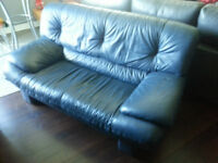 Causeuse Cuir Bleu ----- Blue Leather Couch
