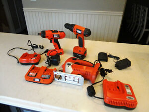 3 Black & Decker Firestorm Power Tools w/Charger &Battery $26/ea