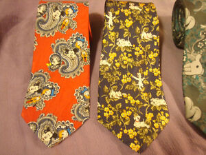 4 Novelty Ties - 3 Micky Mouse & 101 Dalmatian Neck Ties Peterborough Peterborough Area image 2