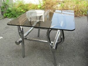 VINTAGE TABLE D'APPOINT CHROME