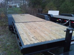 Heavy -duty tiltdecks and Goosenecks, tiny home trailers