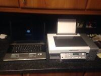 Advent laptop and Lexmark printer