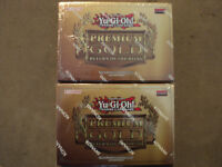 2 Yu-Gi-Oh Trading Card Game Box Premium Gold For sale !