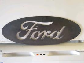 Ford Big Steel Badge Sign mancave wall art