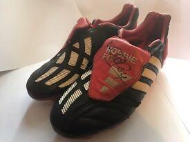 Adidas Predator Mania football boots UK size 7 red & black