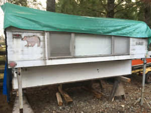 Old camper for back of pick up