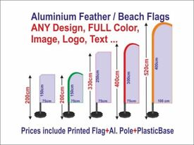 CUSTOM-FREE-Design-Feather-Flag-Flying-Banner-75x200-to-520cm-set-with-printing FREE SHIPPING