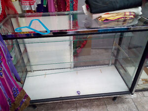 Store equipment for sale (hangers, showcase display, and stands)