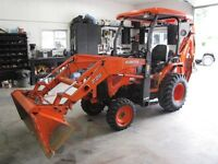 One owner Kubota B-26 4X4 loader, backhoe, only 400 hrs.