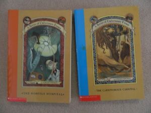 """The series a """"A Series of Unfortunate Events"""" books"""