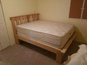 Hand made cedar queen size bed frame