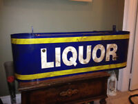 Neon double sided LIQUOR Sign