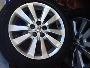 Toyota Corolla alloy rims and tires 205-55r-16