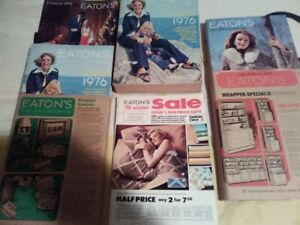 lot of 6 vintage EATON's catalogues - 40 years old, 2 in wrapper