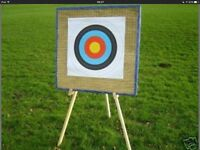 Archery straw target and stand
