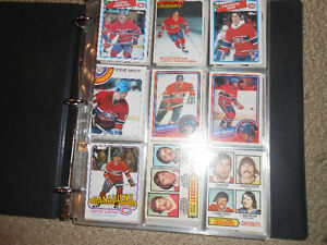 A binder of old hockey cards or sports cards London Ontario image 1