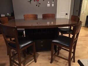 Counter height table set with 8 chairs!